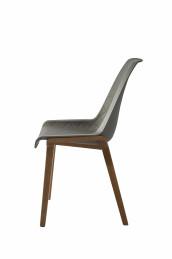 Amsterdam city dining chair brown legs grey body