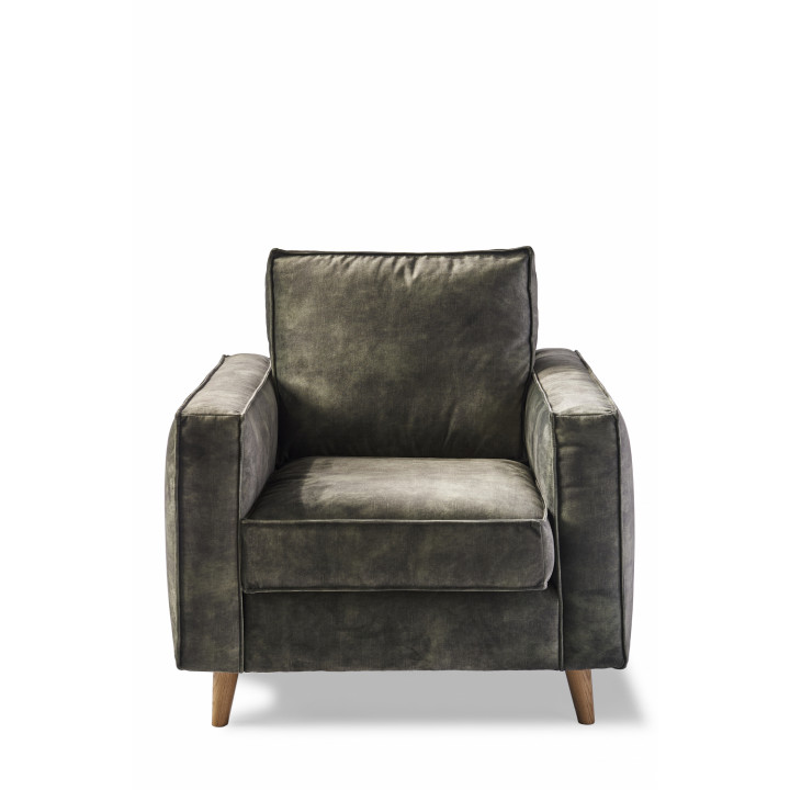 Kendall armchair velvet ivy