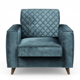 Kendall armchair velvet petrol