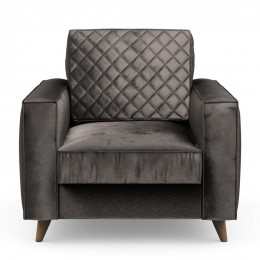 Kendall armchair velvet grigrey