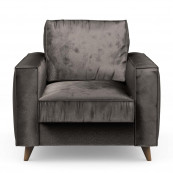 Kendall armchair velvet grimaldi grey