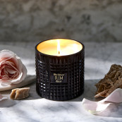 Luxury scented candle sunset