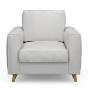 Kendall armchair washed cotton ash grey