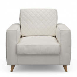 Kendall armchair oxford weave alaskan white