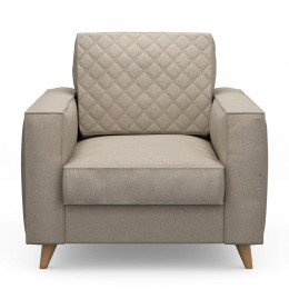 Kendall armchair oxford weave ansvers flax