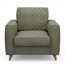 Kendall armchair oxford weave forest green