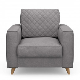 Kendall armchair oxford weave steel grey
