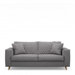 Kendall sofa 2 5 seater oxford weave steel grey