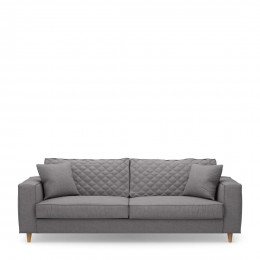 Kendall sofa 3 5 seater oxford weave steel grey