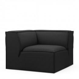 The jagger corner oxford weave basic black