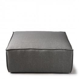 The jagger footstool oxford weave steel grey