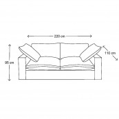 Residenza sofa 3 5s bsblack