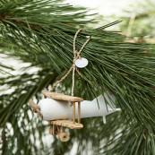 Rr double decker plane ornament