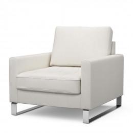 West houston armchair oxford weave alaskan white