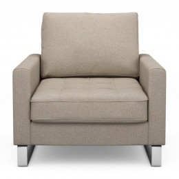 West houston armchair oxford weave anvers flax