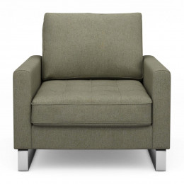 West houston armchair oxford weave forest green