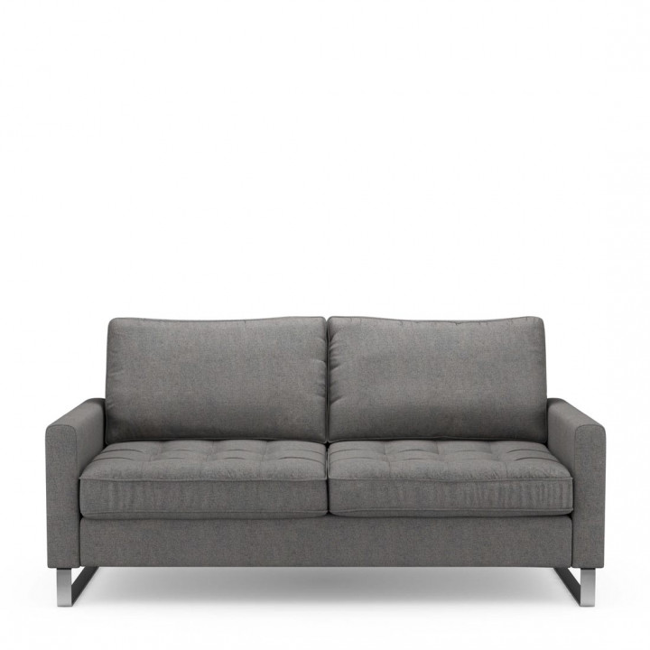 West houston sofa 2 5 seater oxford weave classic charcoal