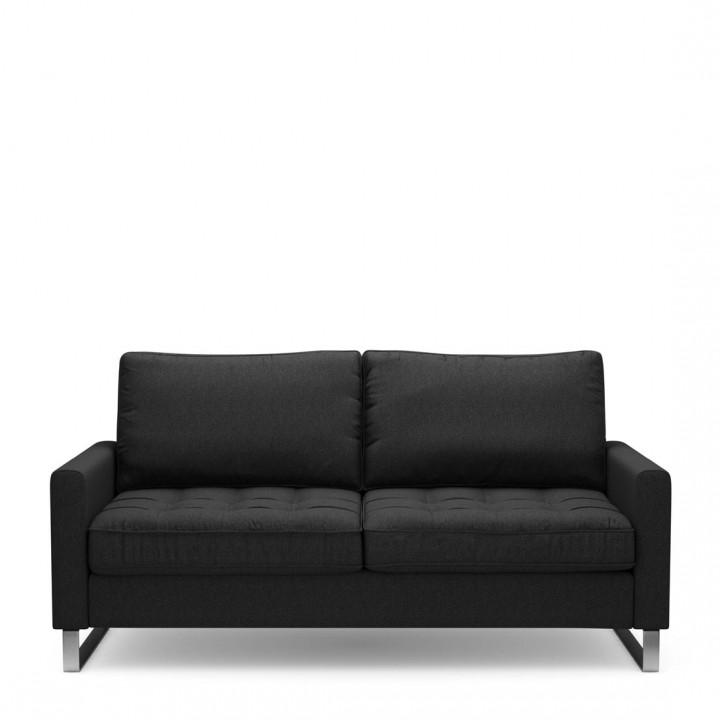 West houston sofa 2 5 seater oxford weave basic black