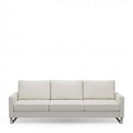 West houston sofa 3 5 seater oxford weave alaskan white