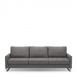 West houston sofa 3 5 seater oxford weave classic charcoal