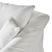 Bond street sofa 3 5 seater oxford weave alaskan white