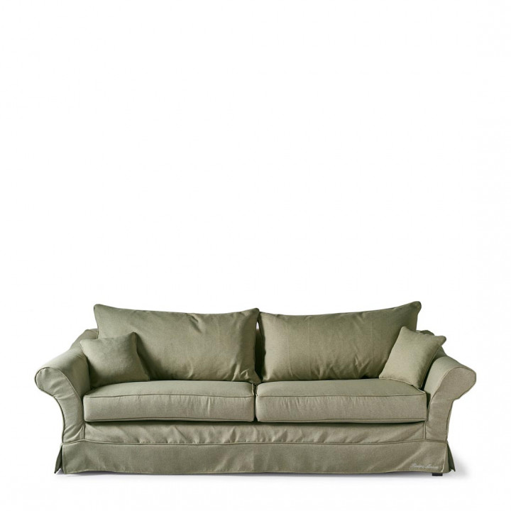 Bond street sofa 3 5 seater oxford weave forest green