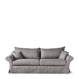 Bond street sofa 3 5 seater steelgr