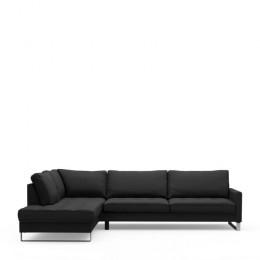 West h corner sofa left bsblack