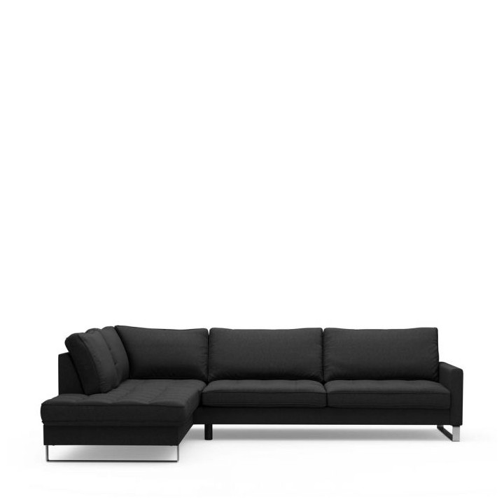 West h corner sofa left bsblack