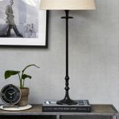 L hotel lamp base black l
