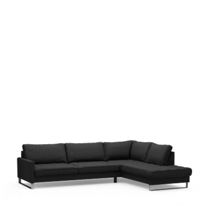 West h corner sofa right bsblack