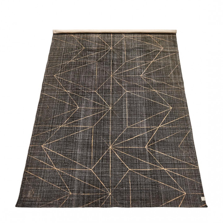 Graphic print carpet grey 300x200