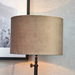 Velvet cylinder lampsh sand 20x30