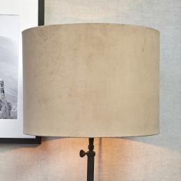 Velvet cylinder lampsh sand 30x40