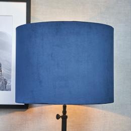 Velvet cylinder lampsh blue 30x40