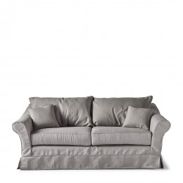 Bond street sofa 2 5 seater steelgr