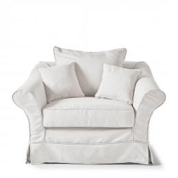 Bond street love seat oxford weave alaskan white