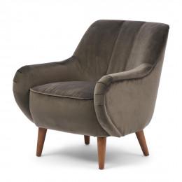 Harper armchair velvet slate grey