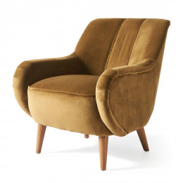 Harper armchair velv windsor green
