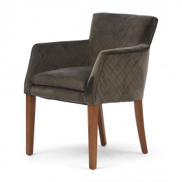 Waverly dining armchair vel sl grey