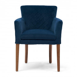 Waverly dining armchair vel oc blue