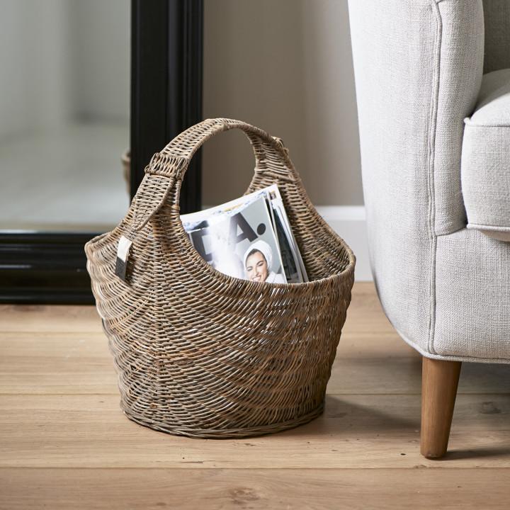 Rustic rattan best magazine basket