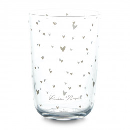 Lovely hearts glass m