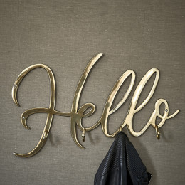 Hello coatrack soft gold
