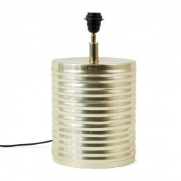 Docklands ribbed table lamp s gold