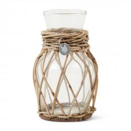 Rustic rattan mini flower vase