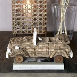 Rustic rattan safari car model