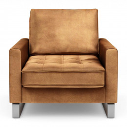 West houston armchair velvet cognac