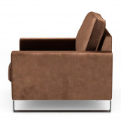 West houston armchair velvet chocolate