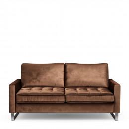 West houston sofa 2 5 seater velvet chocolate
